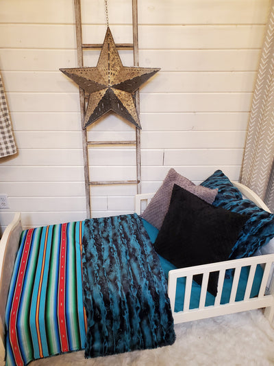 Toddler or Twin Bedding -  Fiesta Serape and Riviera Minky Collection