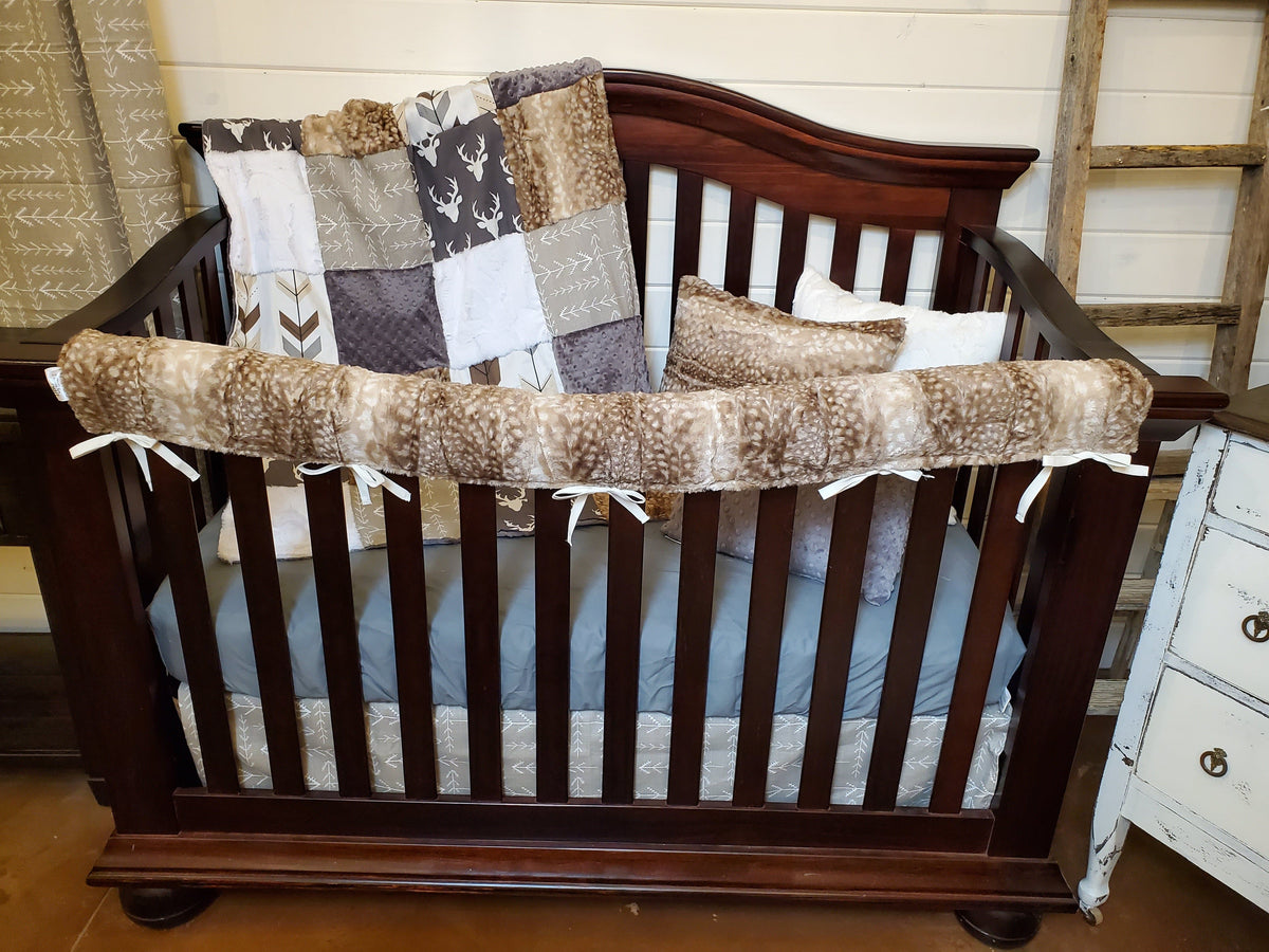 Ready to Ship Boy Crib Bedding- Buck and Rustic Arrow Collection