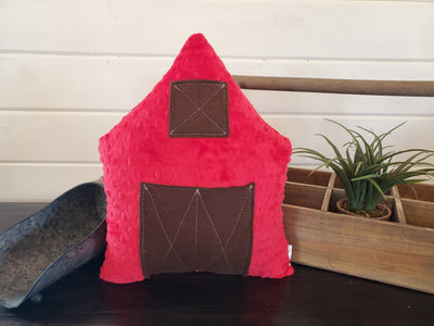 Decorative Pillow - Big Red Barn Minky Pillow