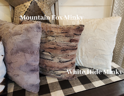 Decorative Pillow Cover - Minky