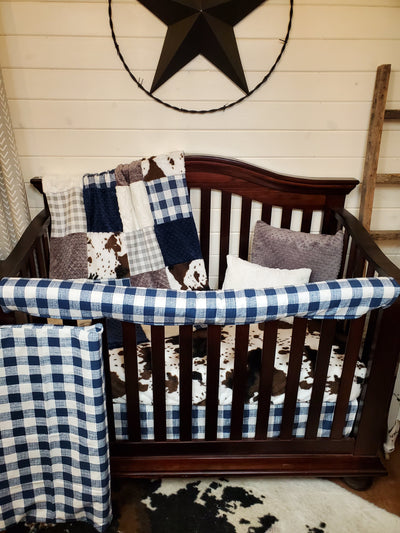Ready to Ship Boy Crib Bedding - Farm Style Collection