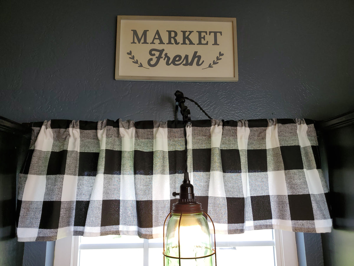 Curtain Panels or Valance - Check in Black