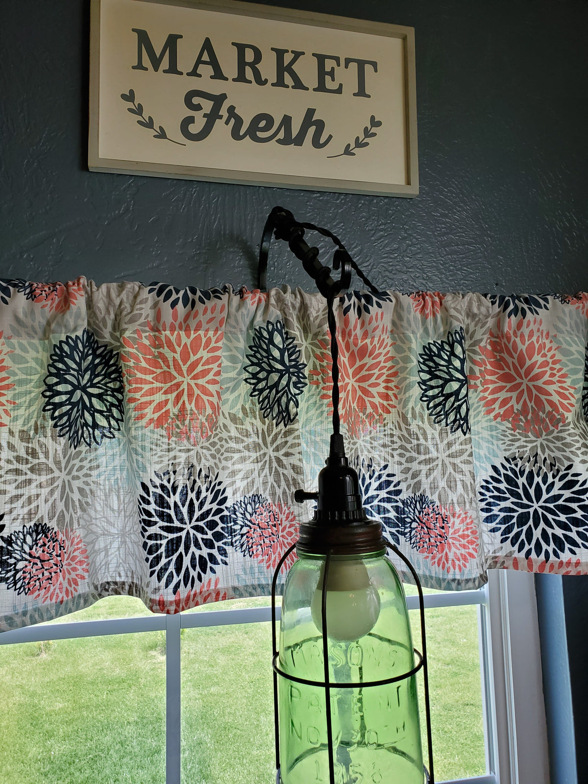 Curtain Panels or Valance - Floral in Colorburst