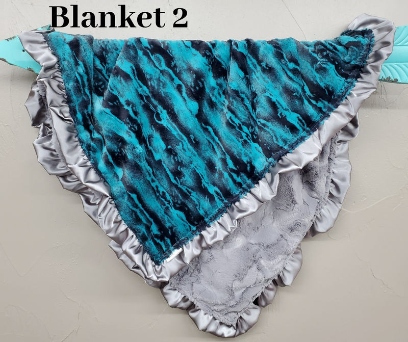 Happy Hour - 32x35 Ruffle Blanket *Coupon code -$20off