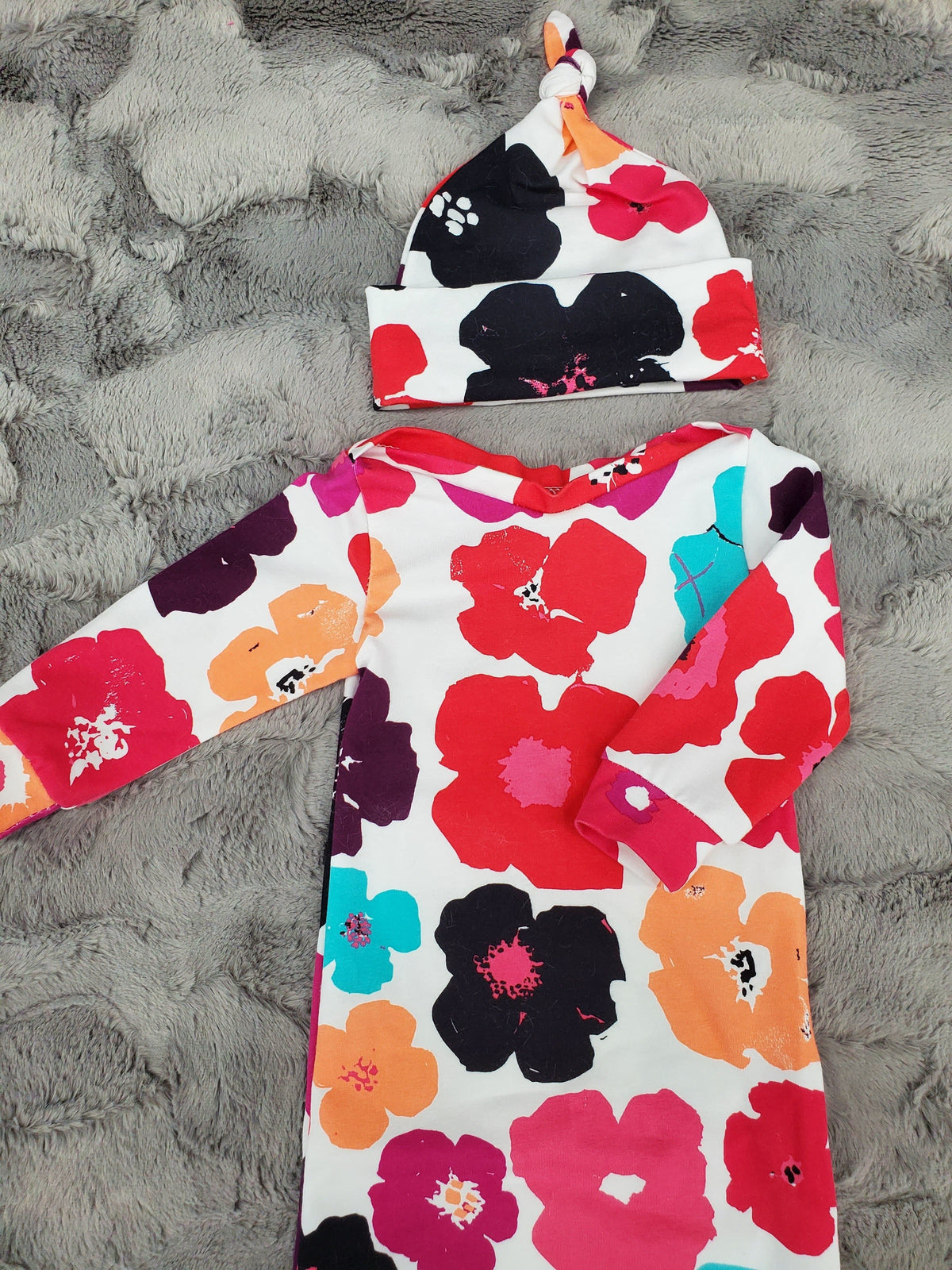 NEW DESIGNS- Baby Gown - Tropical Flowers Going Home Outfit