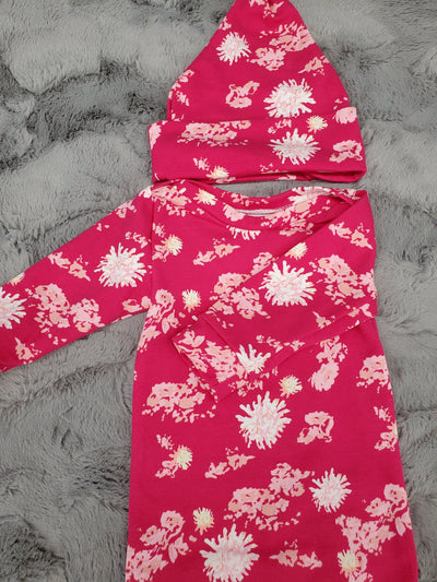 NEW DESIGNS- Baby Gown - Pink Petals Going Home Outfit