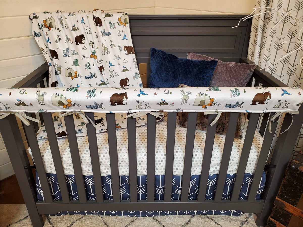 Ready to Ship Specials Boy Crib Bedding-  Woodland Animals Collection
