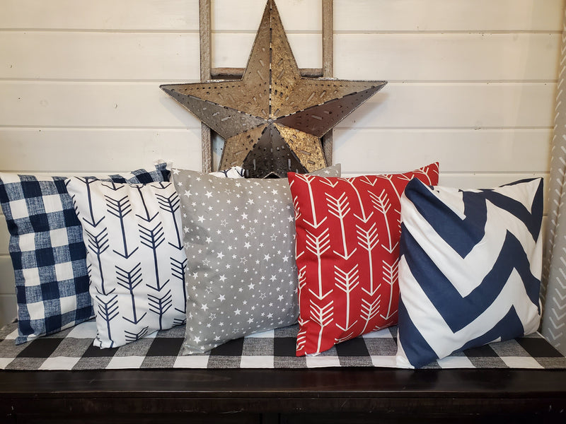"Decorative Pillow Cover - 4th of July 18"" pillow cover"