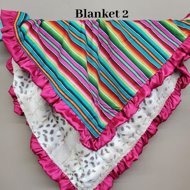 Happy Hour - 32x35 Ruffle Blanket *Coupon code $20off