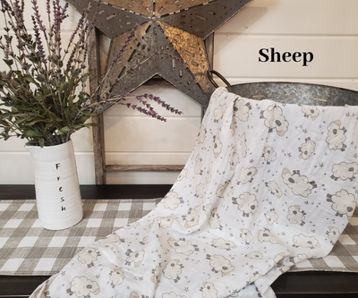 Swaddle Blanket- Sheep Guaze Swaddle