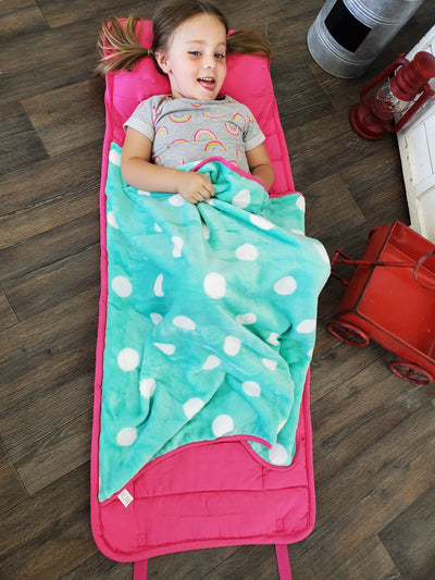 Happy Hour - Nap Mat with attached blanket and pillow