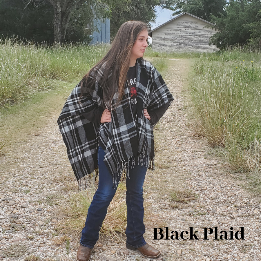 Shawl - Personalized Plaid or Leopard