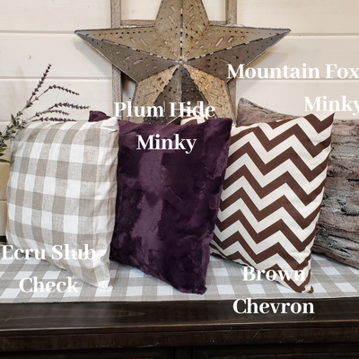 Decorative Pillow Cover - Warm Farmhouse Style