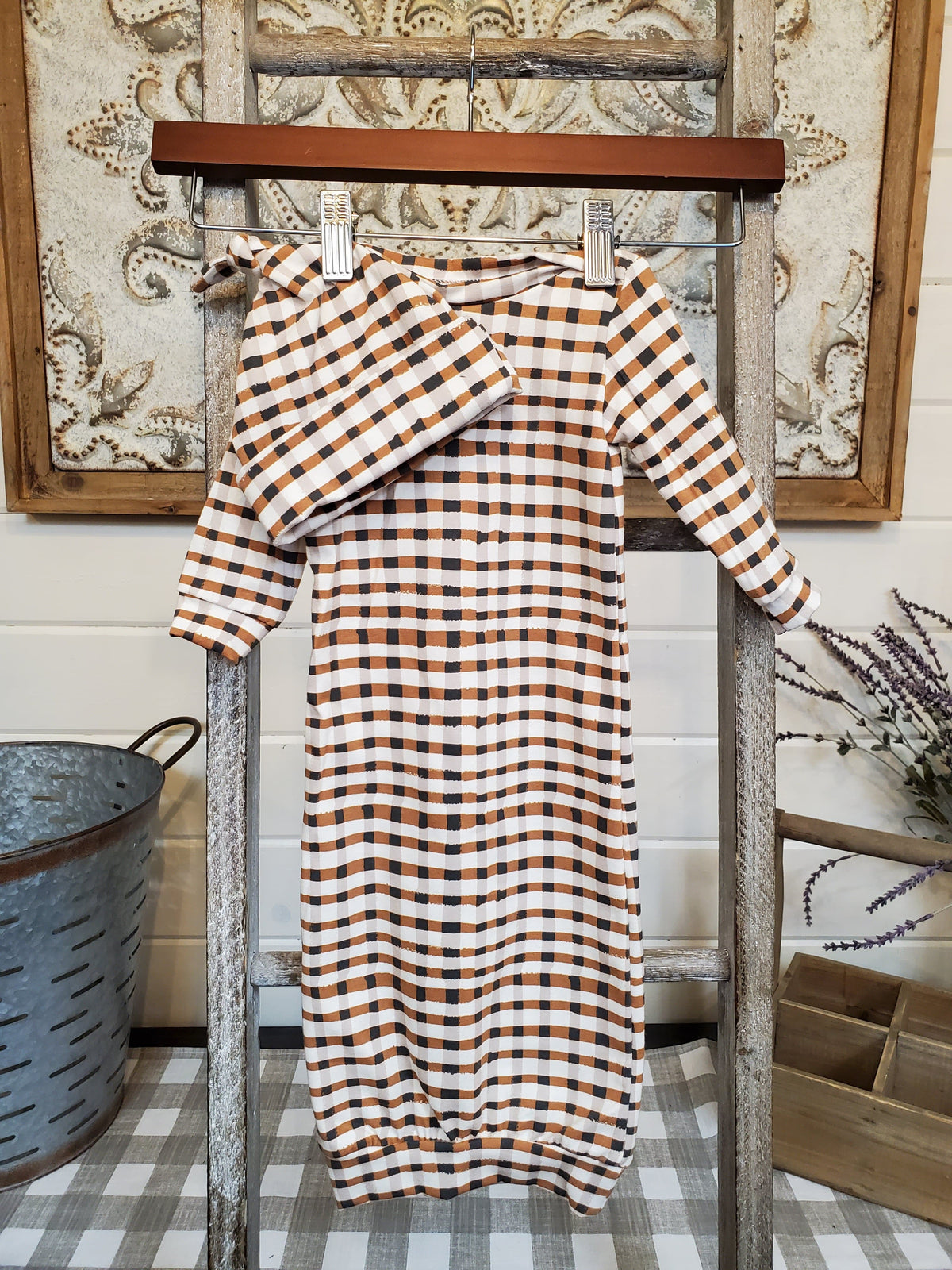 Baby Gown - Wooly Plaid