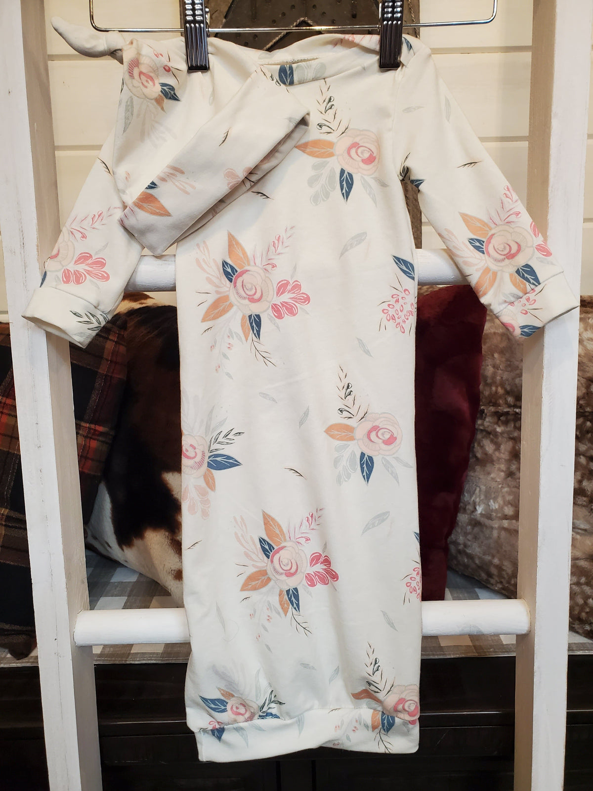Baby Gown Set - Montrose Floral