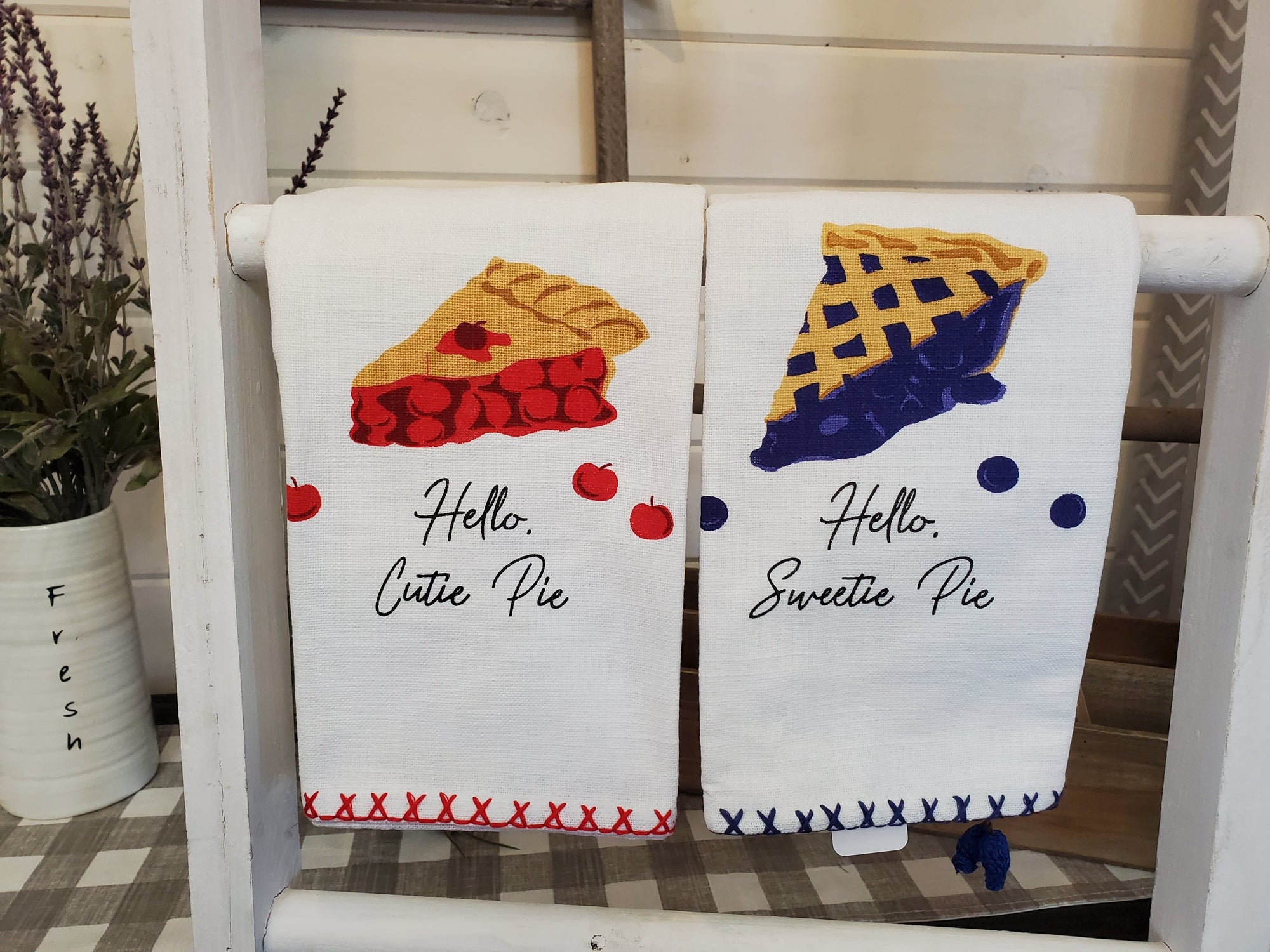 DBC Home Decor Sale- Kitchen Towel - Pie Recipe Towels