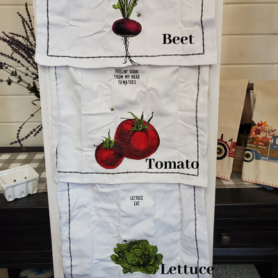 DBC Home Decor Sale- Kitchen Towel - Vegtable Kitchen Towels in Ceramic fruit basket