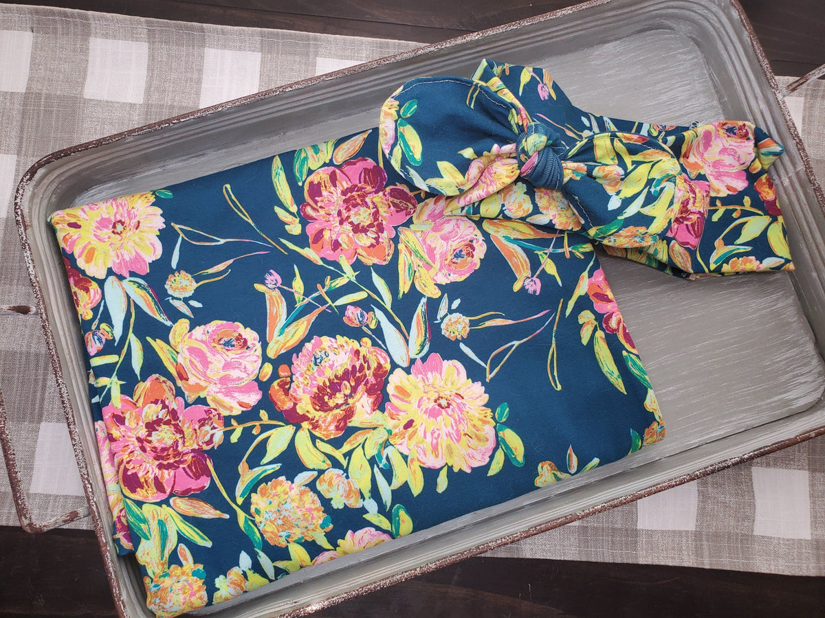Swaddle Set -Prima Floral with Headband