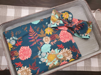 Swaddle Set - Autumn Floral with Headband