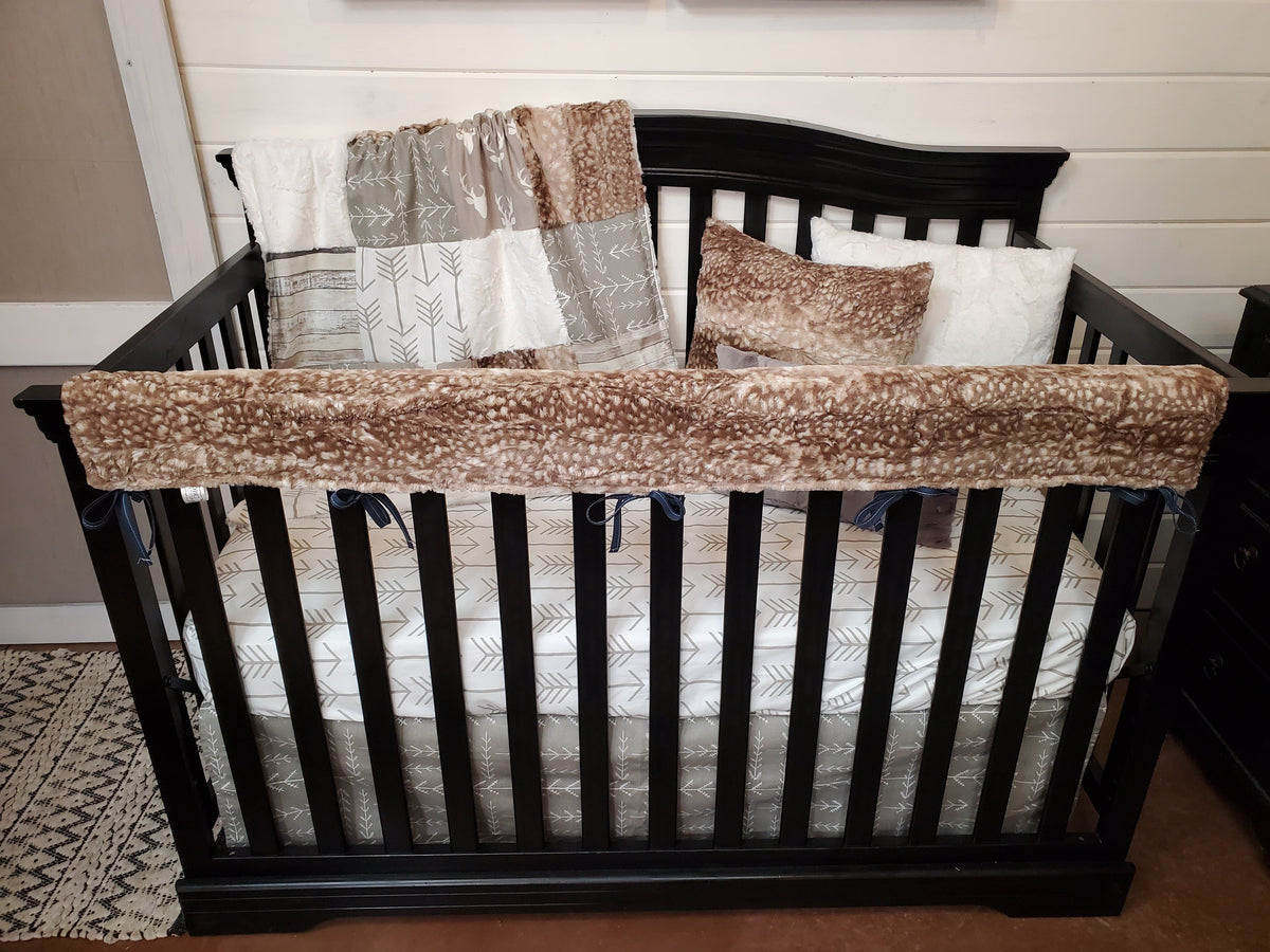 Ready to Ship Neutral Crib Bedding- Buck and Woodland Collection