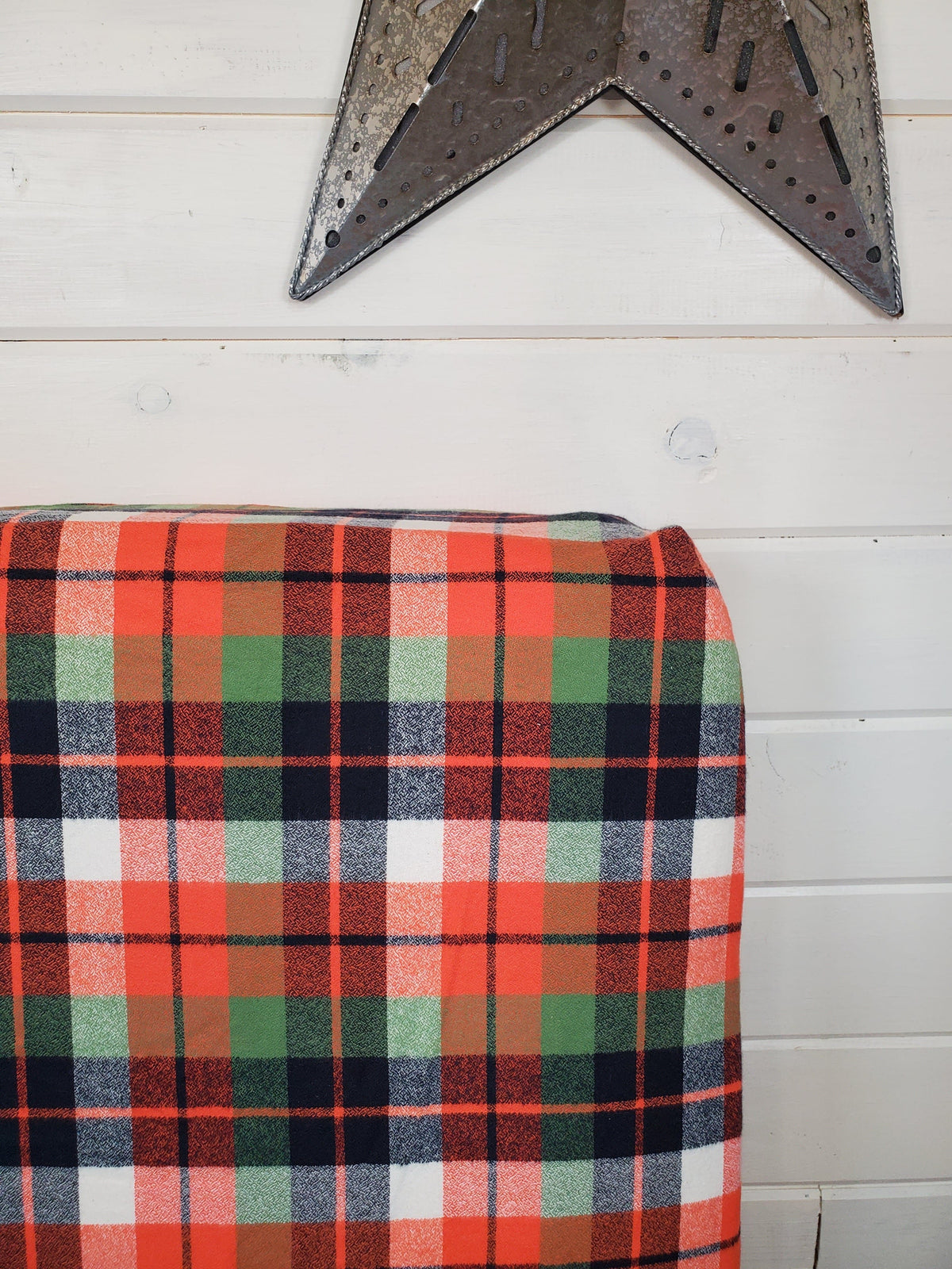 Fitted Sheet - Plaid in Adventure Orange: All Bed Sizes