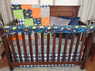 Ready to Ship Boy Crib Bedding- Dinosaur Collection