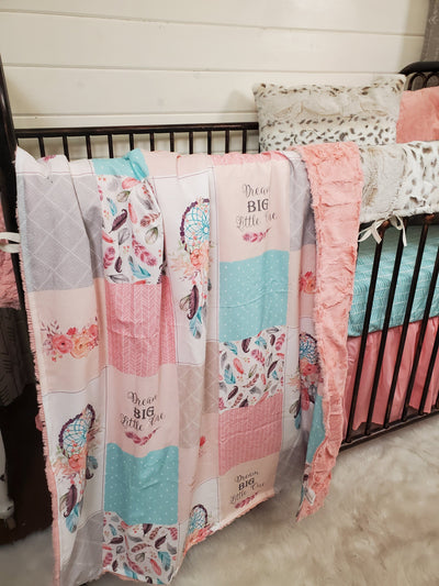 Custom Girl Crib Bedding- Dream Catcher Collection