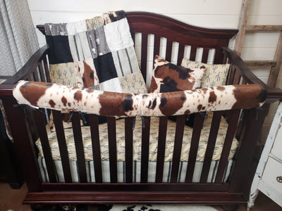 New Release Boy Crib Bedding- Steer and Cow Minky Collection