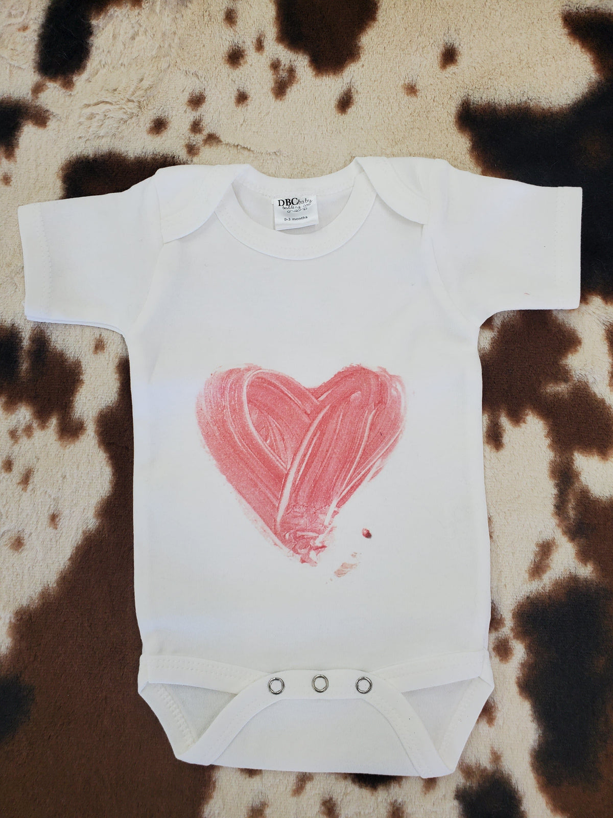 Baby Onsies - Painted Heart
