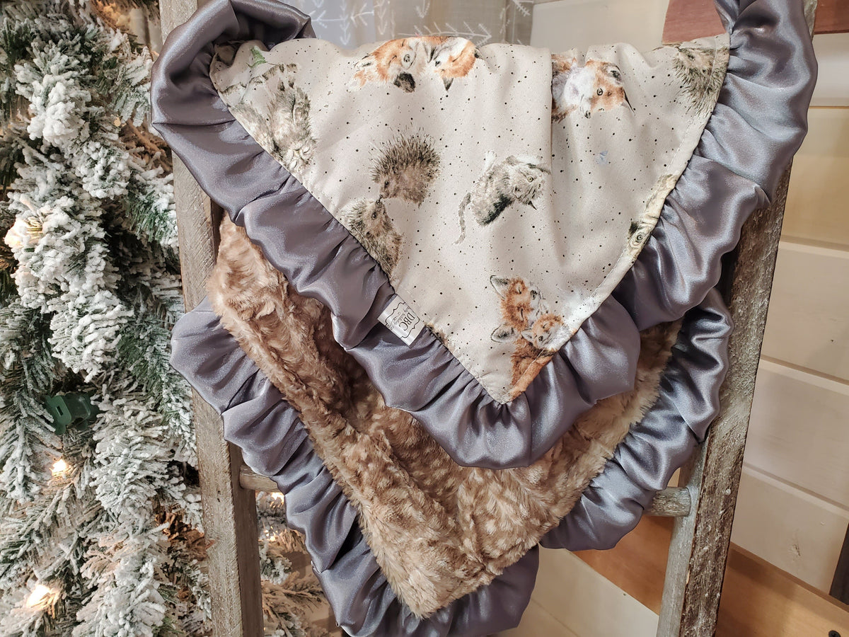 Baby Ruffle Lovey - Forest Animals