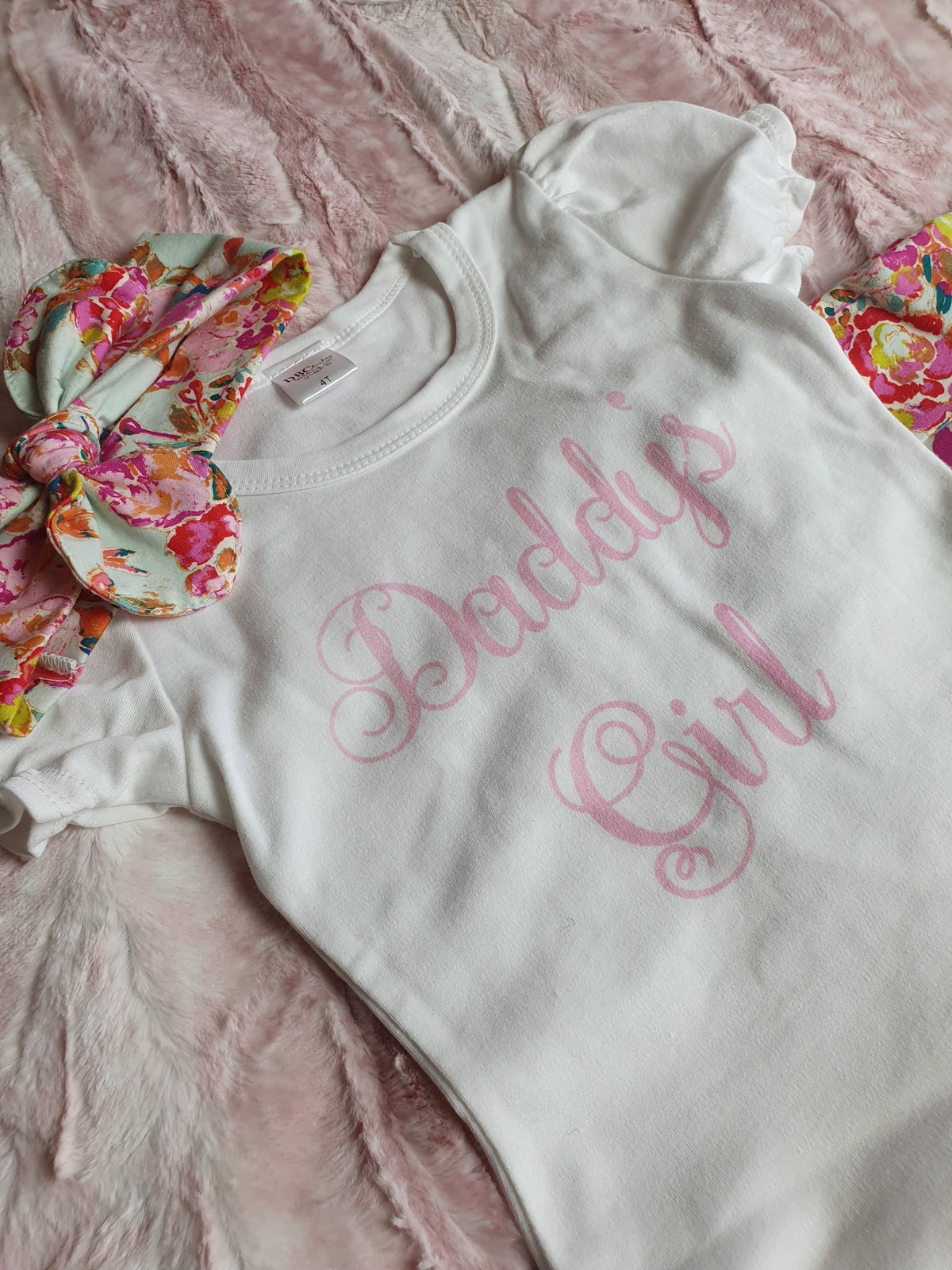 New Design Baby/Toddler Outfit - 3pc Ruffle Pants Set - Daddy's Girl Summer Floral