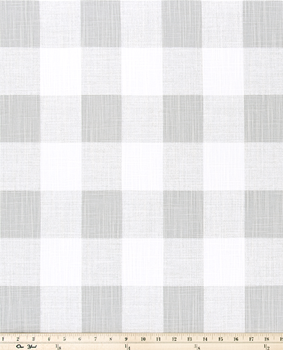 Curtain Panels or Valance - French Gray Check
