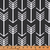 Curtain Panels or Valance - Arrow in Black