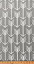 Curtain Panels or Valance - Gray Arrow