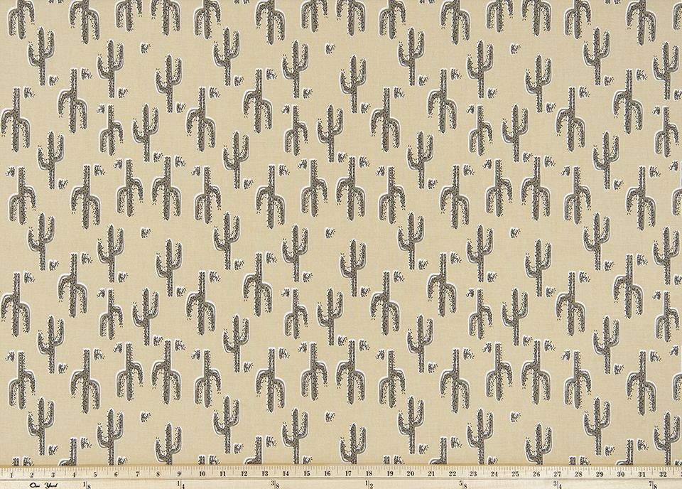 Fitted Sheet - Cactus in Camel : All Bed Sizes