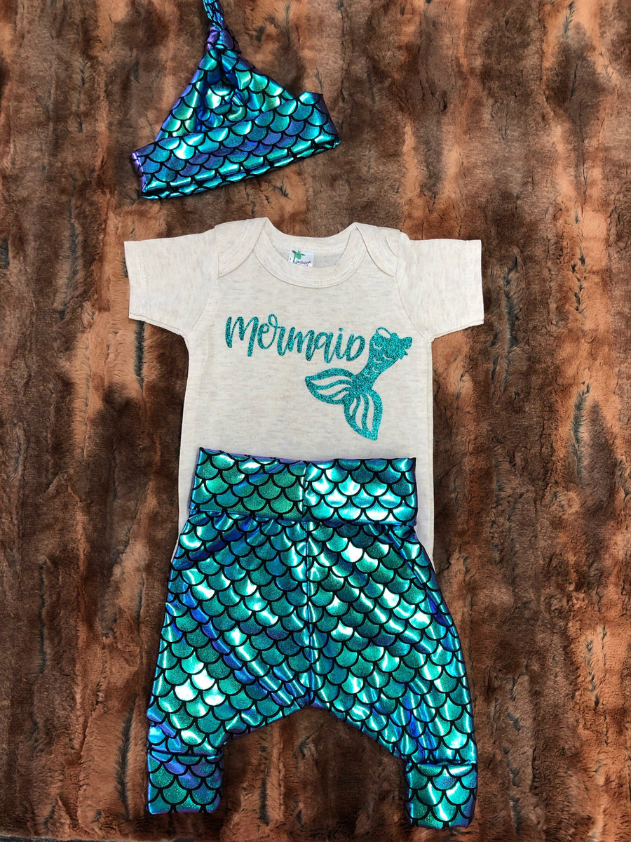Baby Outfit -Mermaid Going Home Outfit