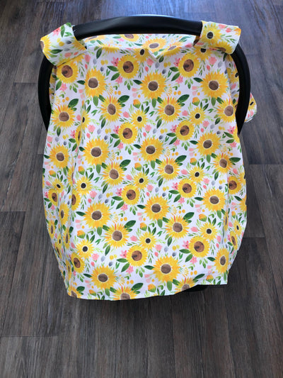 Carseat tent - Sunflowers