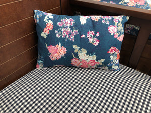 Ready to Ship Girl Crib Bedding - Navy Coral Floral, Mint Random Arrows, Gray, Blush, and Ivory, Rustic Floral Crib Bedding