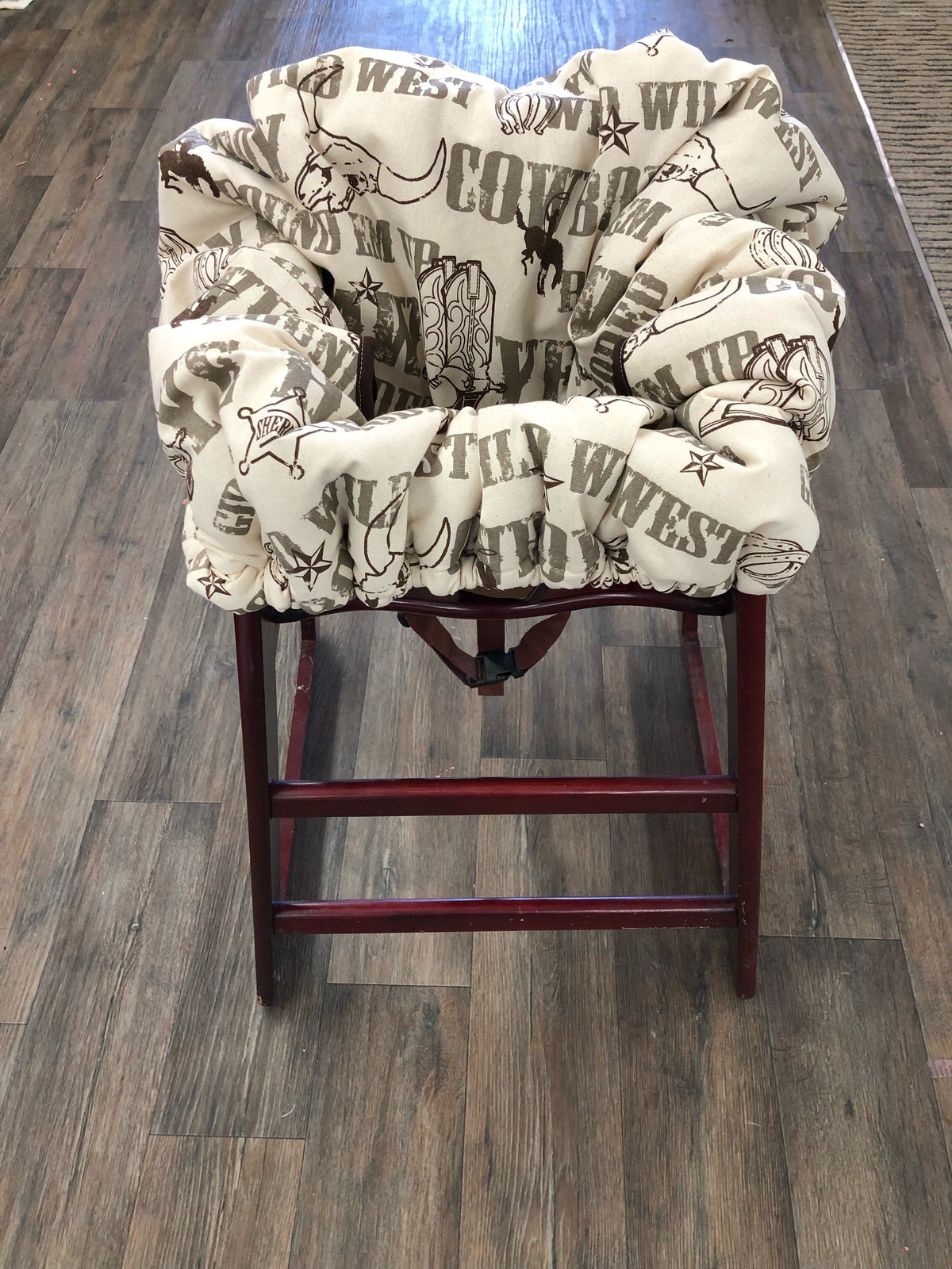 Cart Cover- Wild West Cowboy Highchair/Cart Cover