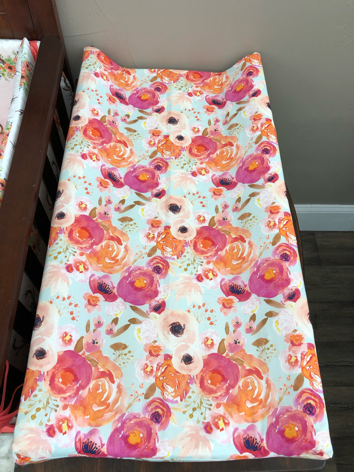 Changing Pad Cover - Watercolor Floral