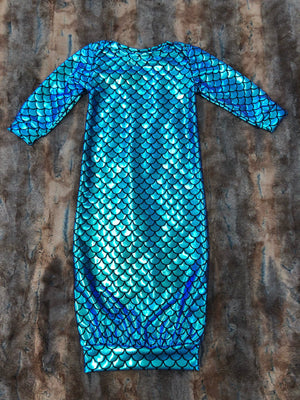 Baby Gown - Teal Mermaid Going Home Outfit