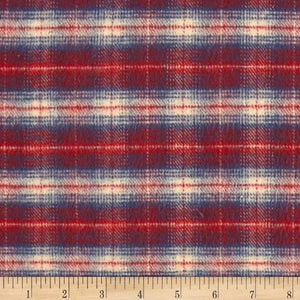 Standard Blanket  - Fawn Skin Minky and Red Navy Plaid Blanket