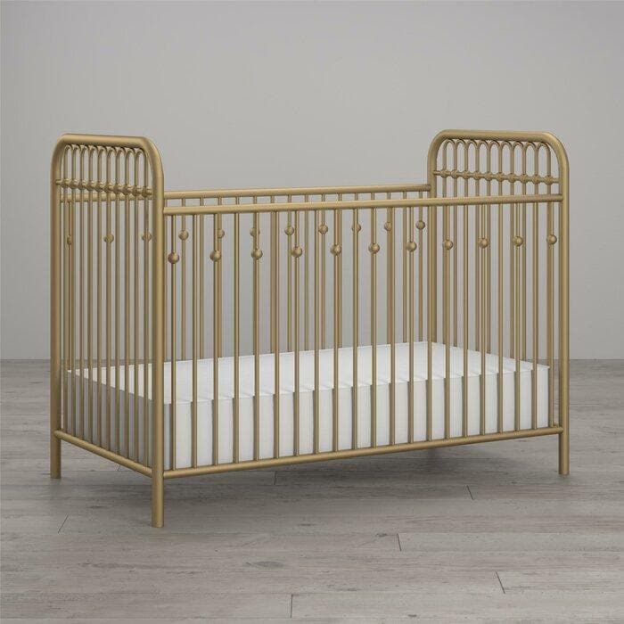 Standard Cribs - Metal Crib in Gold