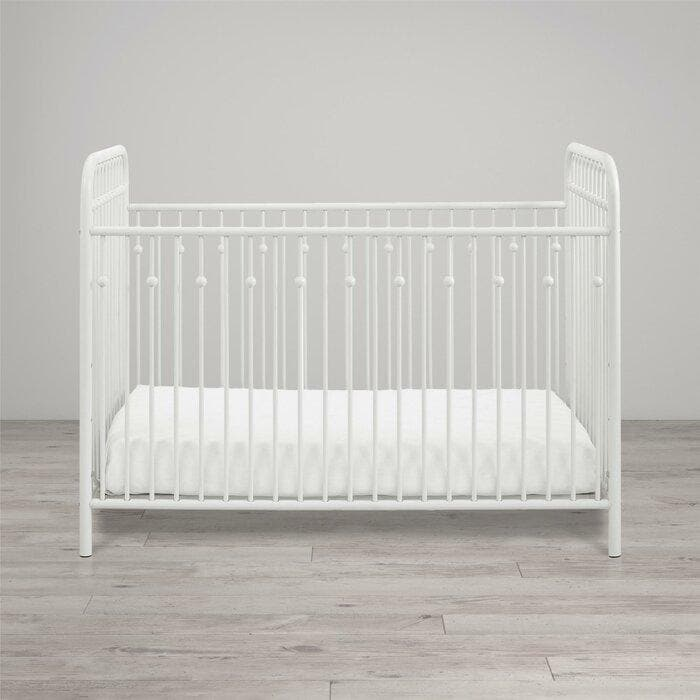 Standard Cribs - Metal Crib in White