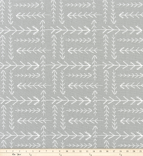 Curtain Panels or Valance - Tribal Arrow in French Gray