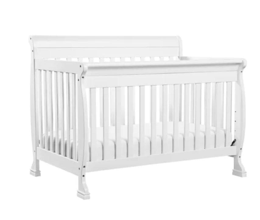 Standard Cribs - Sleigh Style Crib in White