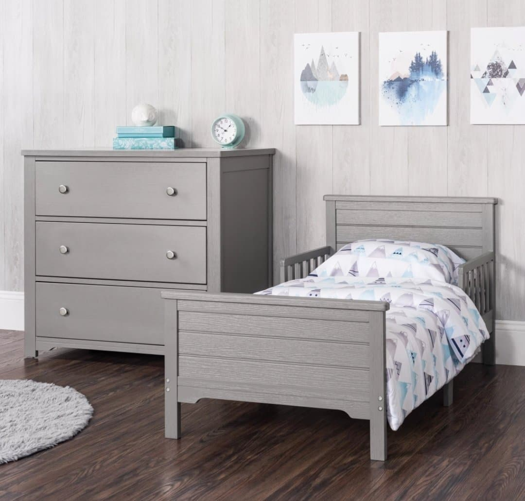 Toddler Bed - approx. stock date Sept 1st *Farmhouse in Brushed Pebble