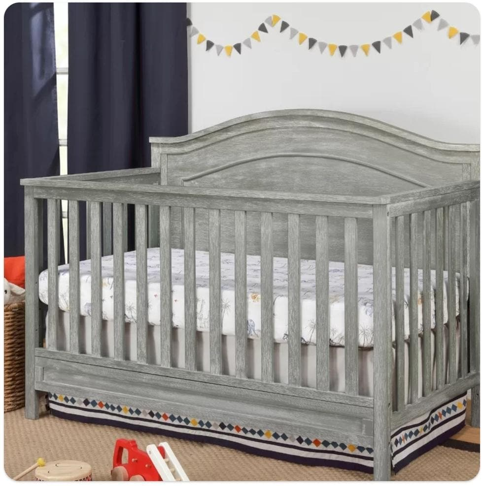 Standard Cribs - Charlie Convertible Crib in Cottage Gray