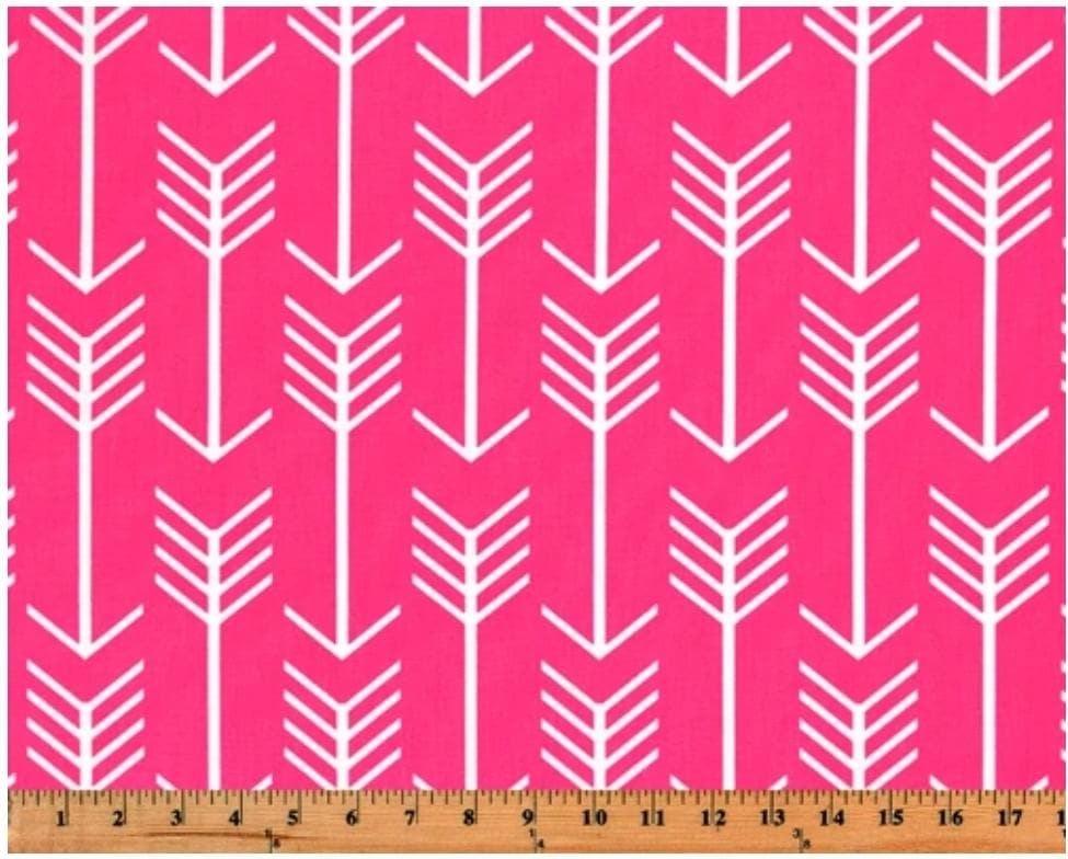 Curtain Panels or Valance - Arrow in Pink