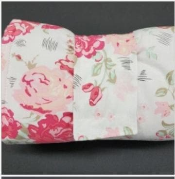 On the Go Changing Pad- Romantic Roses with blush minky interior